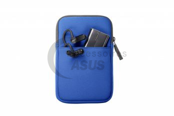 Blue Zippered cover for tablet