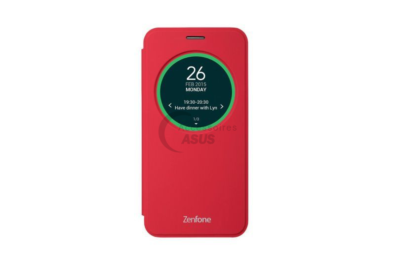 Red view flip cover for ZenFone 2 Laser 5