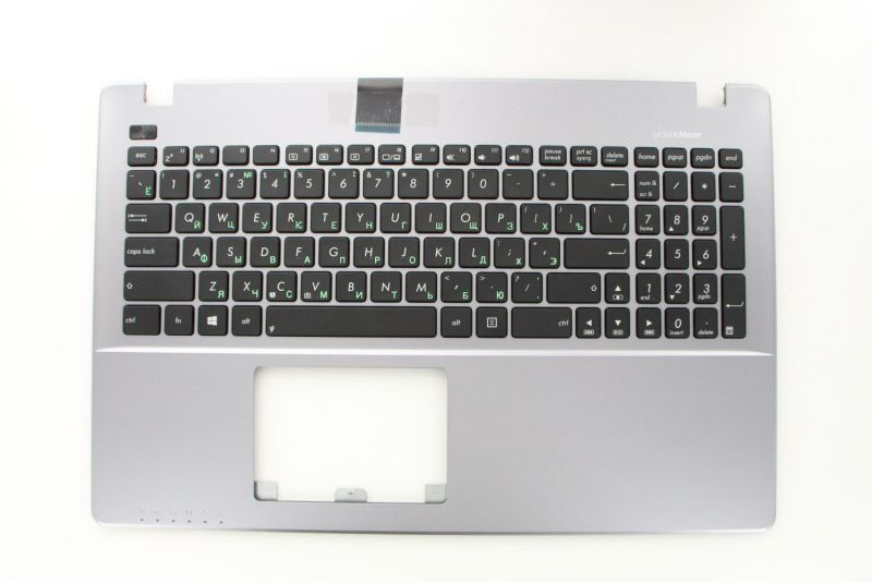 Grey Russian QWERTY keyboard