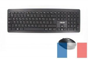 Black W2000 AZERTY keyboard and mouse