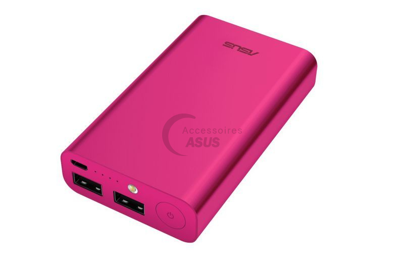 Pink Zenpower 10050 mAh dual USB port