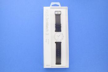 Dark brown leather watch strap for ZenWatch 3