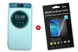 Bundle blue MyView cover for ZenFone Selfie and screenprotector