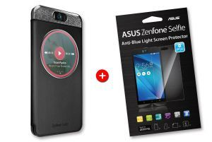 Bundle black MyView cover for ZenFone Selfie and screenprotector