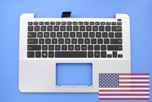 Grey American QWERTY keyboard