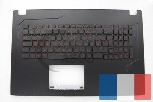 Backlight AZERTY keyboard for Strix ROG laptop Black