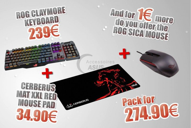 Special Bundle Keyboard + Mouse + Mouse Pad