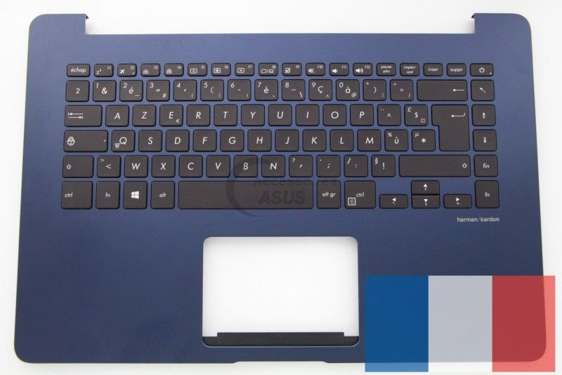 Blue backlit AZERTY keyboard for ZenBook