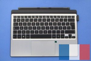 Transformer Pro Silver keyboard with grey protective stand