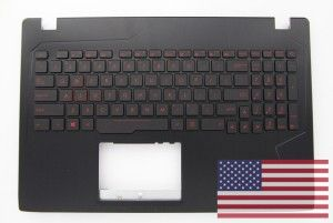 US QWERTY black backlit keyboard ROG STRIX