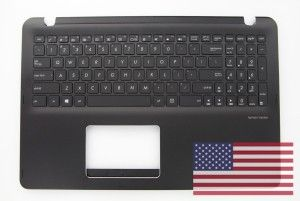 US QWERTY black backlit keyboard