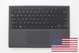 Black keyboard with protective stand