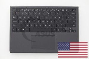 Transformer Black US QWERTY keyboard with protective stand