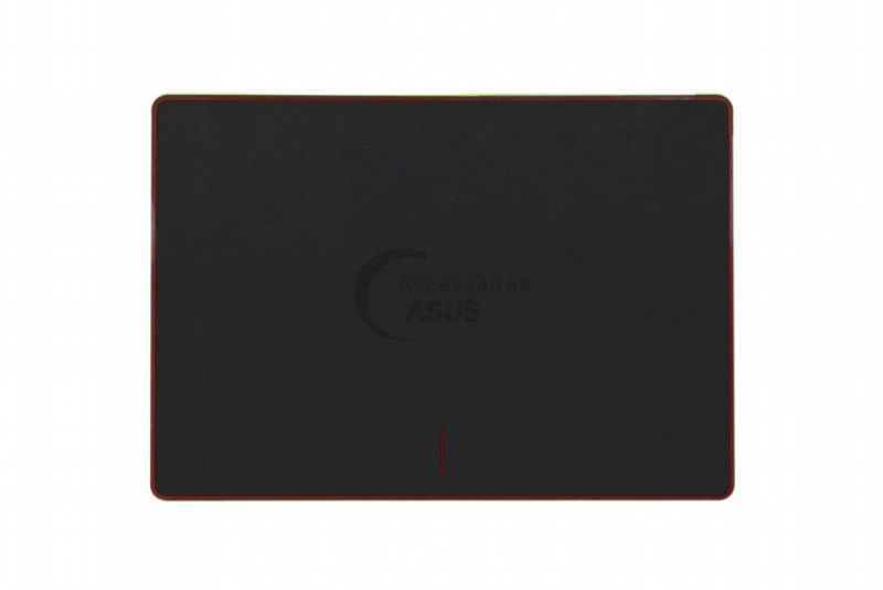 Red and black touchpad plate