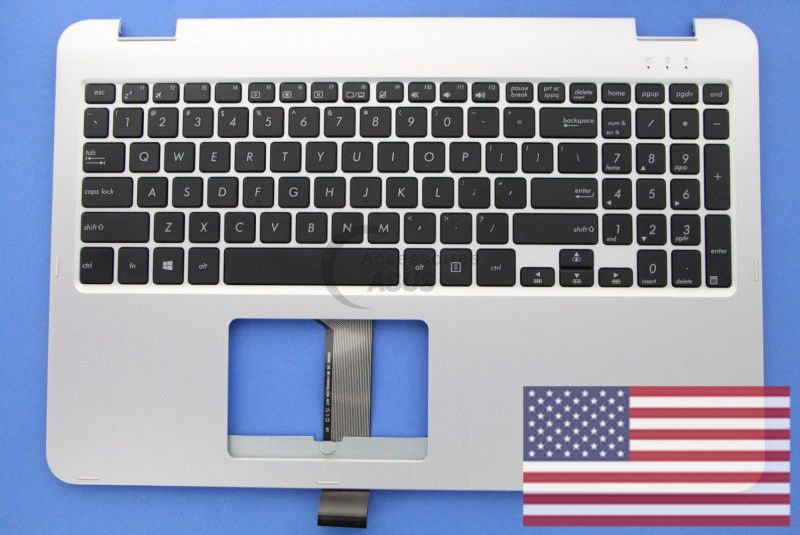 US QWERTY Silver Keyboard for Vivobook Flip