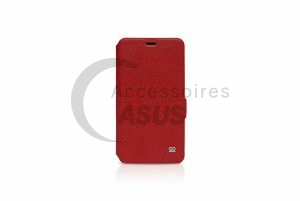 Ibroz Folio Cover Case red for ZenFone Max Plus M1