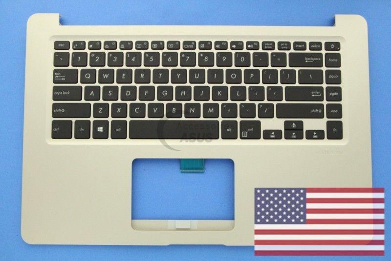 Gold backlit QWERTY US Keyboard for Vivobook