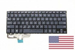 US QWERTY blue Keyboard for Zenbook