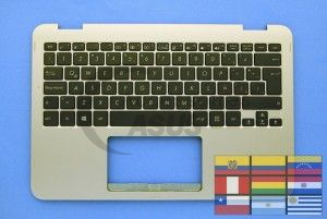 Gold QWERTY keyboard for Vivobook Flip