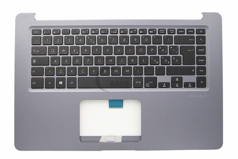 Grey italian QWERTY keyboard for VivoBook Asus