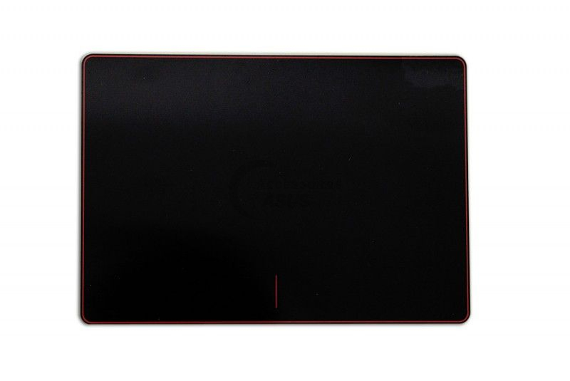 Black and red touchpad plate for the ROG Strix
