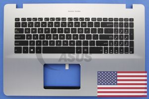 Backlit silver US QWERTY keyboard for Vivobook