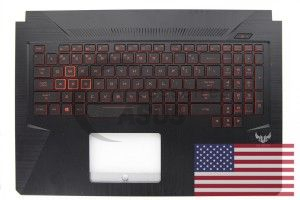 Black Backlight QWERTY keyboard for TUF Gaming