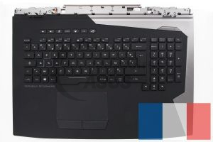 Black backlit AZERTY keyboard for ROG Chimera PC