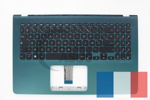Green backlit AZERTY keyboard for VivoBook