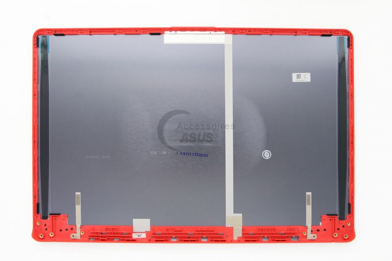 15-inch grey and red LCD Cover for VivoBook