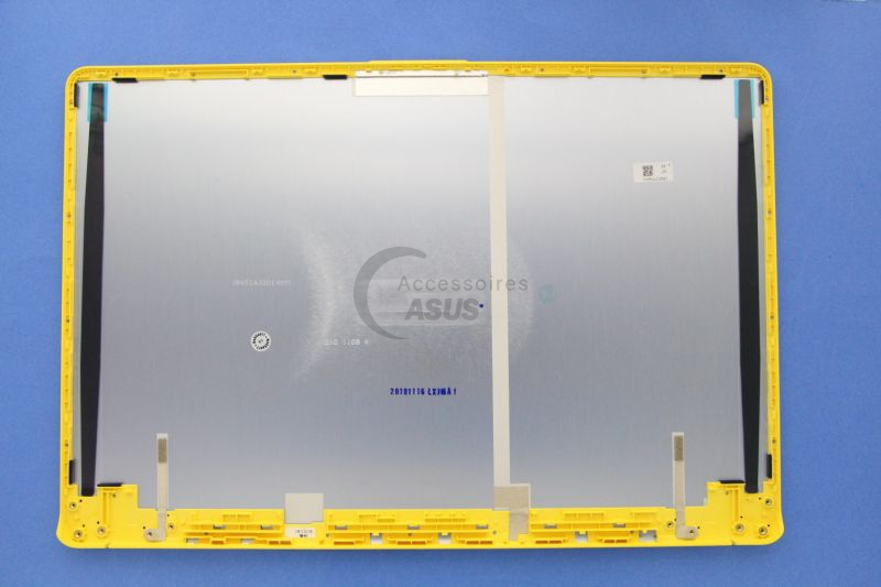 15-inch grey and yellow LCD Cover for VivoBook