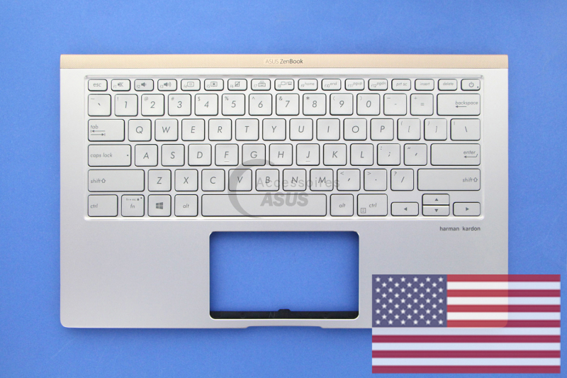 American QWERTY silver backlit keyboard for ZenBook