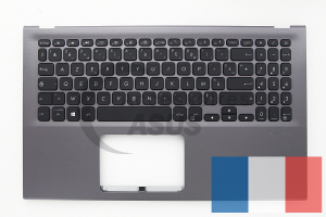 Grey AZERTY backlit keyboard for VivoBook