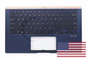 Blue QWERTY American QWERTY backlit keyboard for ZenBook