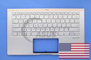 Silver QWERTY American Backlit Keyboard for ZenBook
