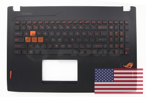 Black backlit QWERTY keyboard for ROG Strix