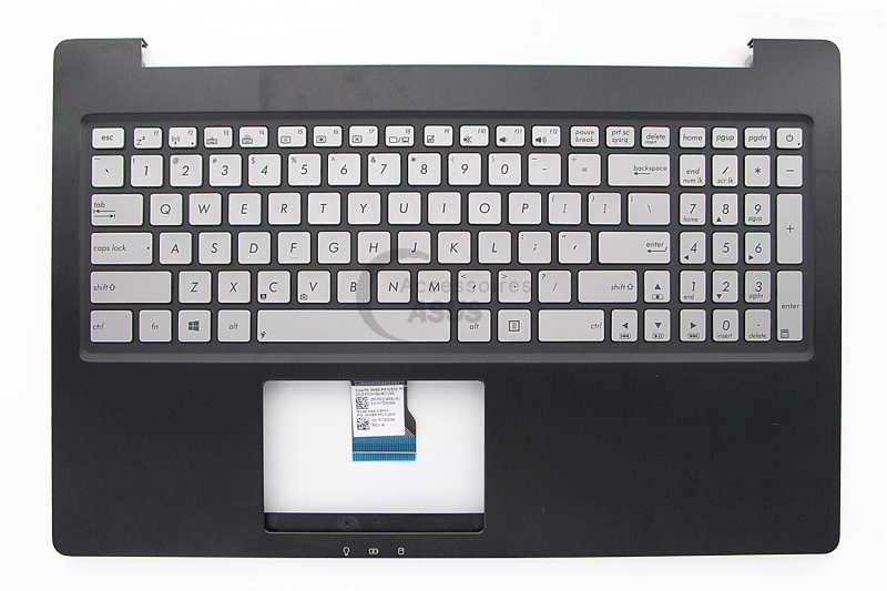 Black backlit American QWERTY keyboard