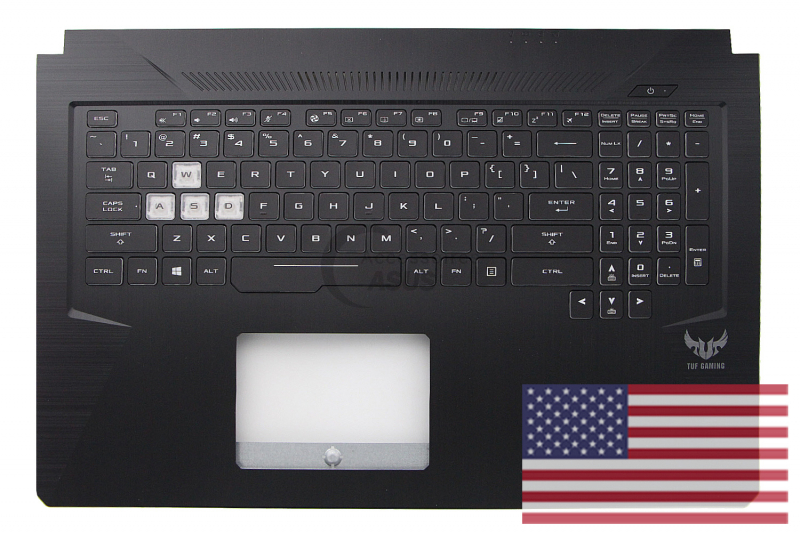 Black QWERTY American Backlit Keyboard for Asus TUF Gaming