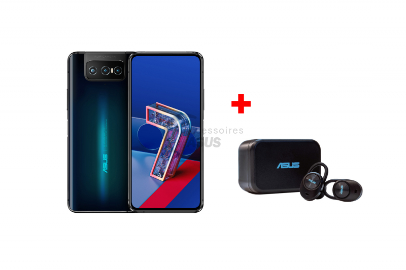 Black Zenfone and Earphones Pack