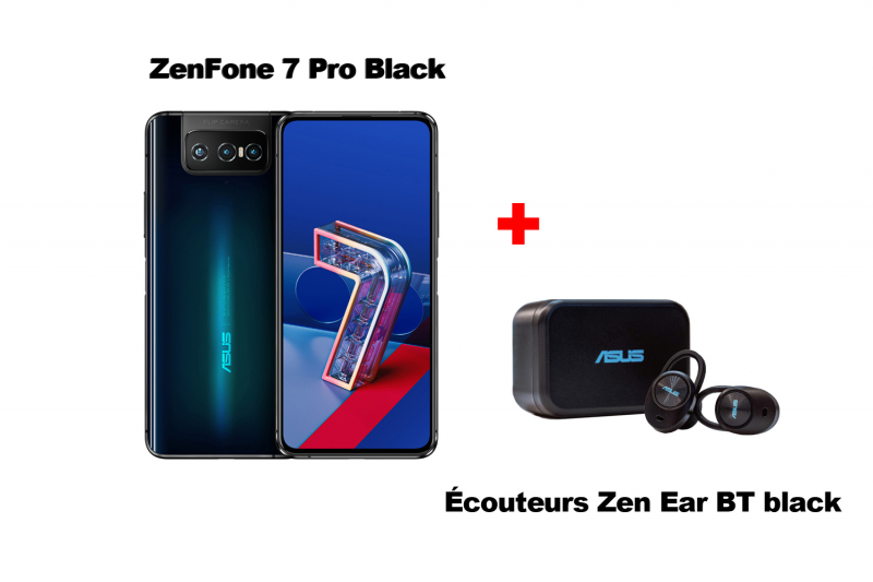 ZenFone 7 Pro black ZS671KS + Zen Ear BT black earpiece