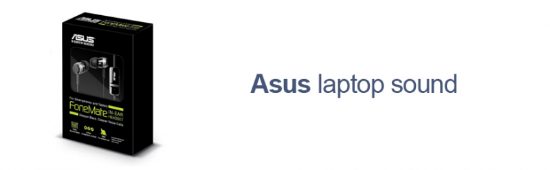 Asus laptop sound