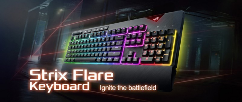 Ignite the battlefield with this STRIX FLARE keyboard