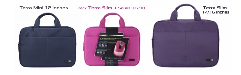 pink terra slim mouse and carry bag