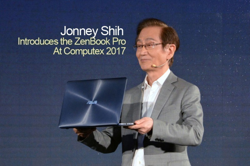 Jonney Shih introduces the ZenBook Pro at Computex 2017